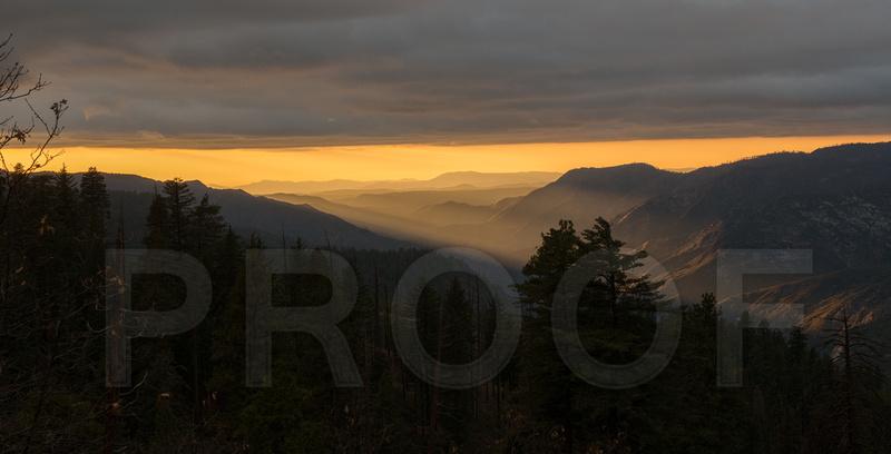 Hazy Sunset - Panorama